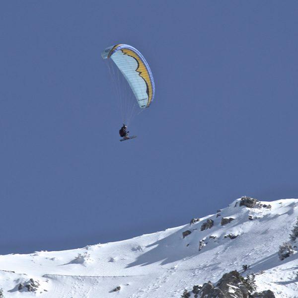 parapente au ski à Montclar