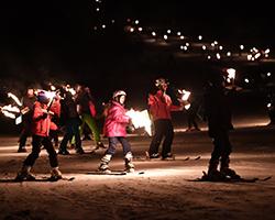 descente flambeaux ski montclar alpes du sud