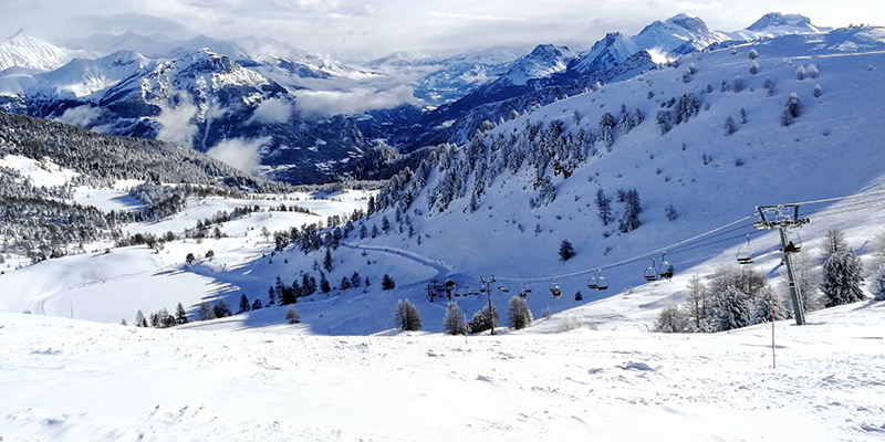 domaine skiable montclar, station ski alpes haute provence