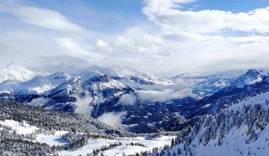 randonnée montagne hiver station ski montclar