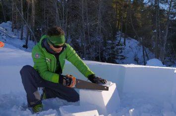 Construction d'igloos